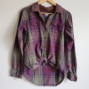 Kavu Plaid Flannel with Courdory Elbow Patches